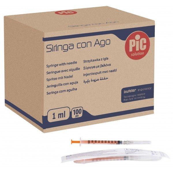 Σύριγγες Pic Ιταλίας 1cc insuline G-27 x ½ (100 τεμάχια)