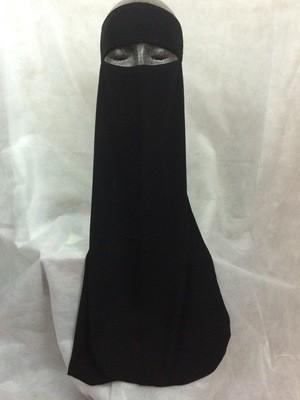 Plain Tie-Back Niqab