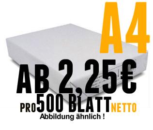 Kopier-und Druckerpapier DinA4 210x297mm SB 80 g weiß GK 500