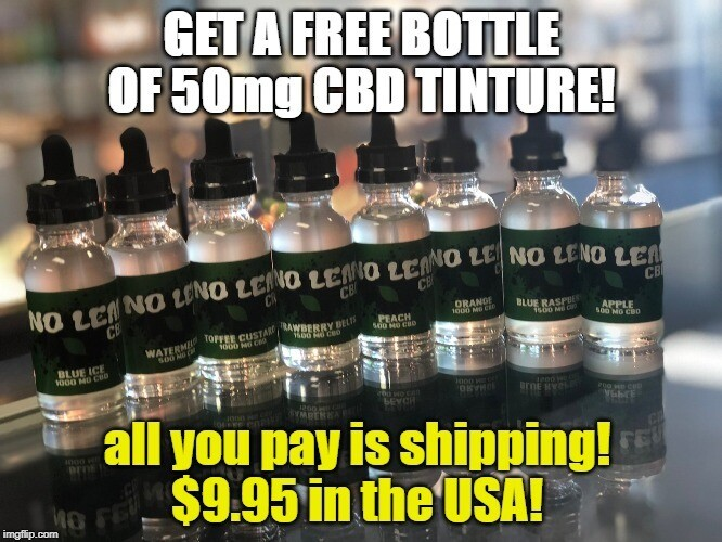 FREE BOTTLE OF 50mg CBD TINCTURE