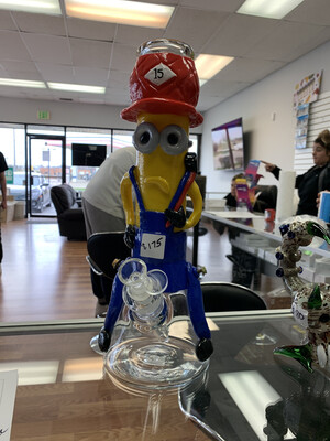 Ceramic Minions Beaker Waterpipe 14""