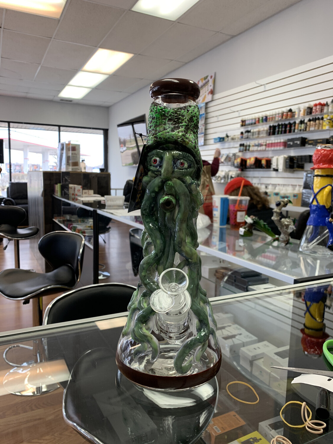 Glow In The Dark Monster Ceramic Waterpipe 14""