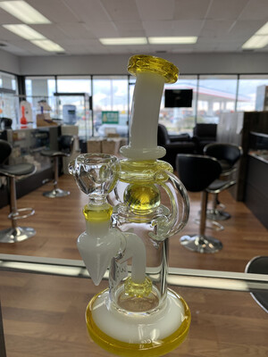 Marble Trap Dual Uptake Waterpipe 8""
