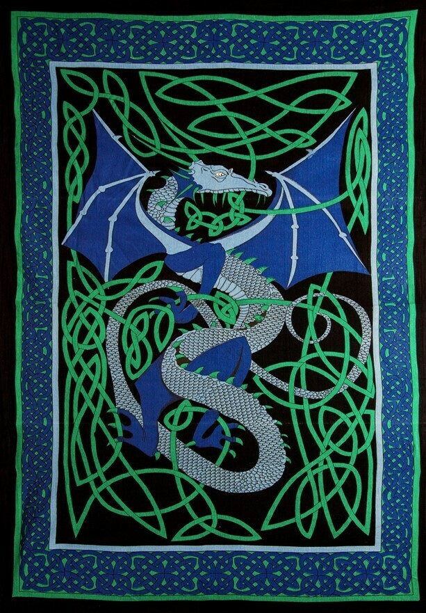 Celtic English Dragon Tapestry