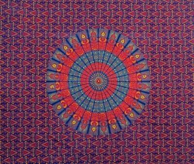 Napthol Mandala Tapestry