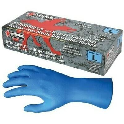 Nitrile Gloves, 8 mil, Powder Free, Blue - 50 Pack