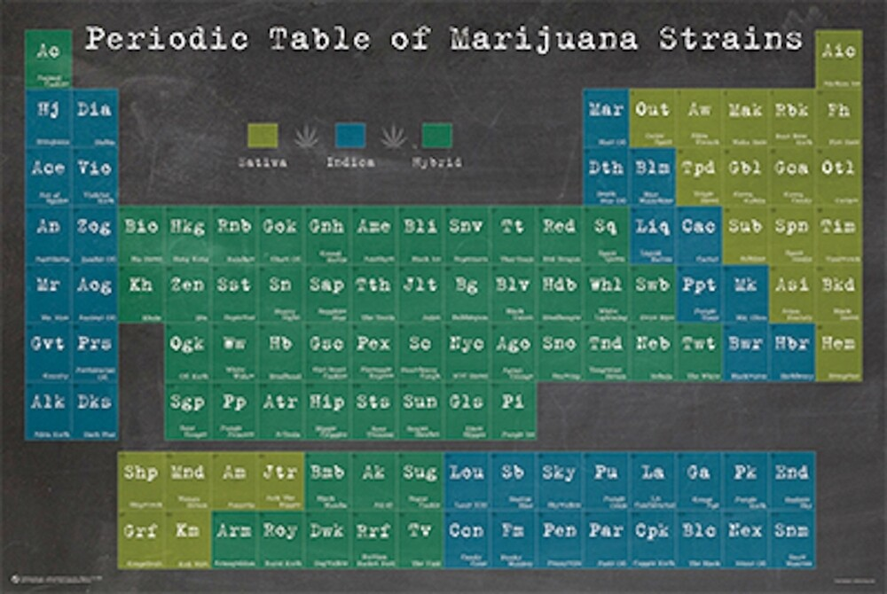 PERIODIC TABLE OF MARIJUANA STRAINS