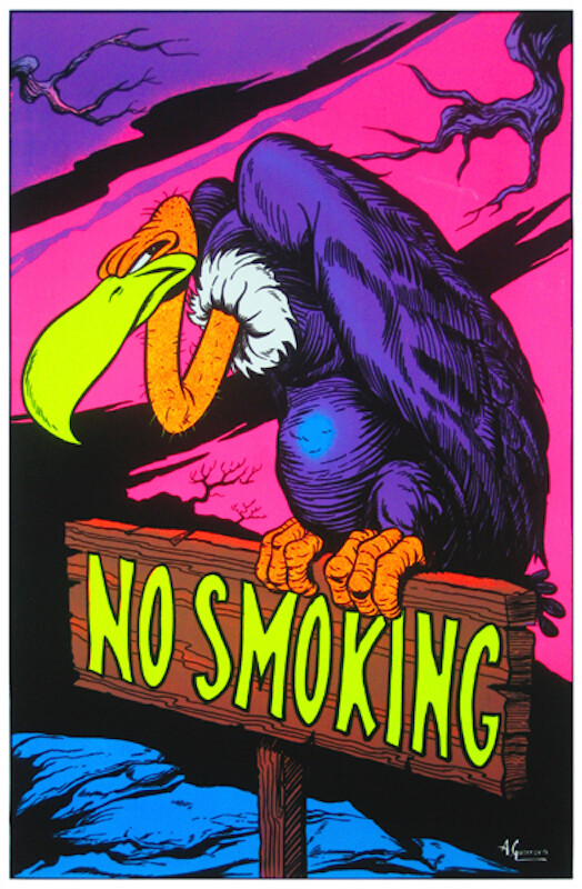 NO SMOKING BLACKLIGHT