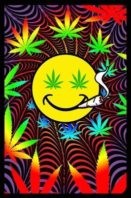 Happy Weed Blacklight
