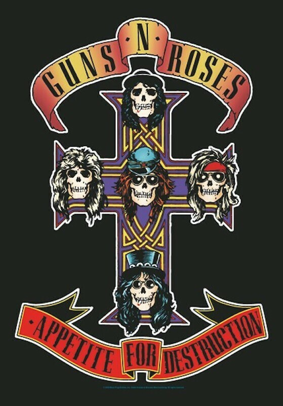 Guns N' Roses Fabric Poster Flag