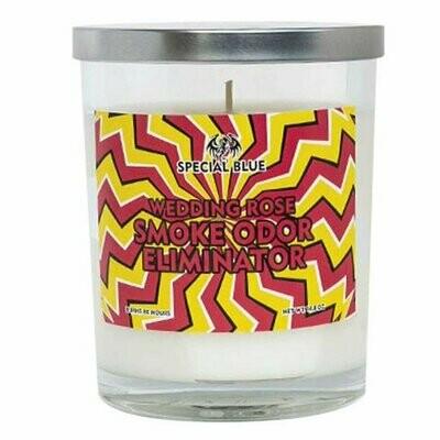 Special Blue Odor Eliminator Candle - 14.8oz / Wedding Rose