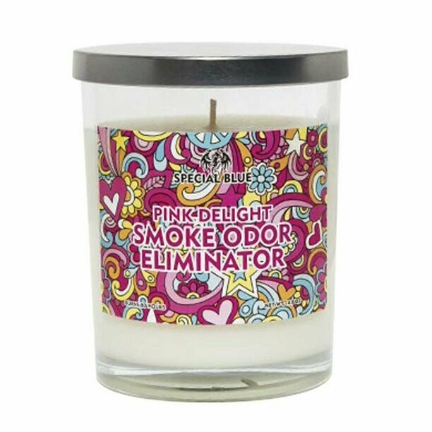 Special Blue Odor Eliminator Candle - 14.8oz / Pink Delight