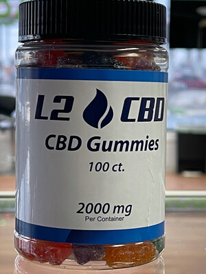 100ct CBD Gummy Bears   2000mg