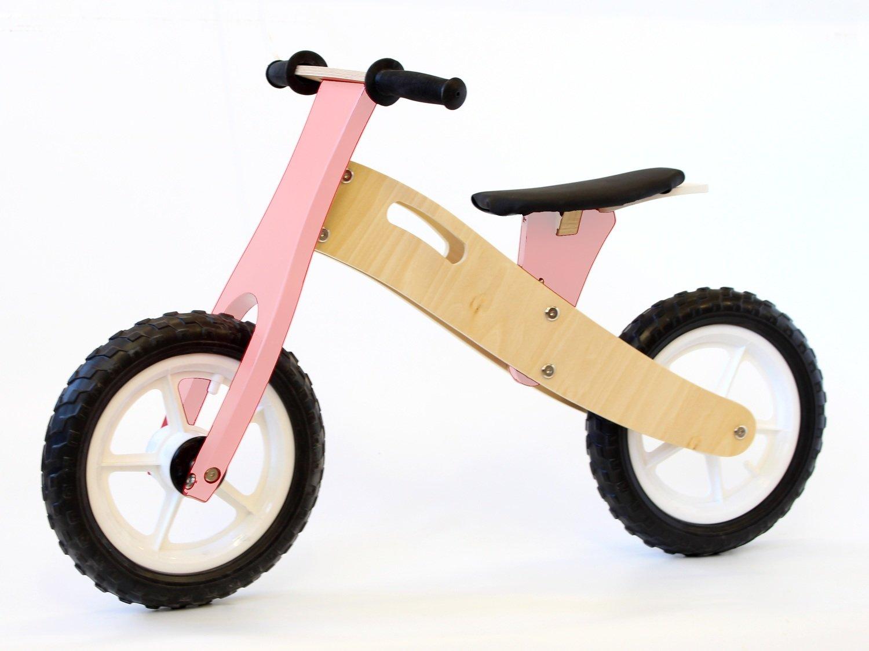 Balance Bike - Wooden (Birch) & Pink