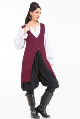 Elizabeth Pirate Linen Vest