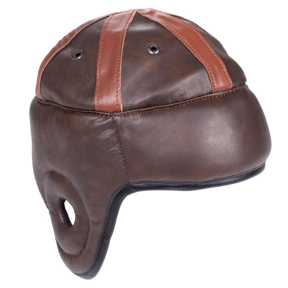 Vintage Leather Novelty Football Helmet