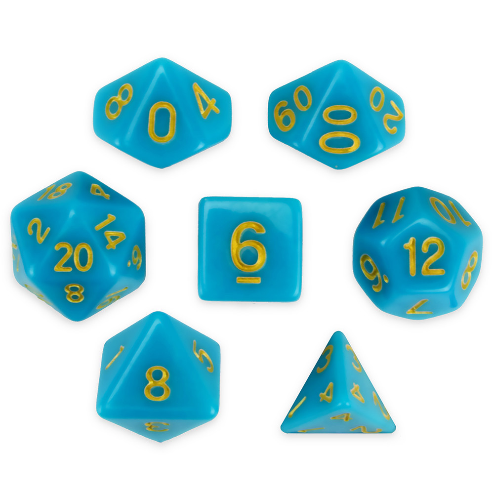 16mm 7 Dice Polyhedral Set, SkyStone