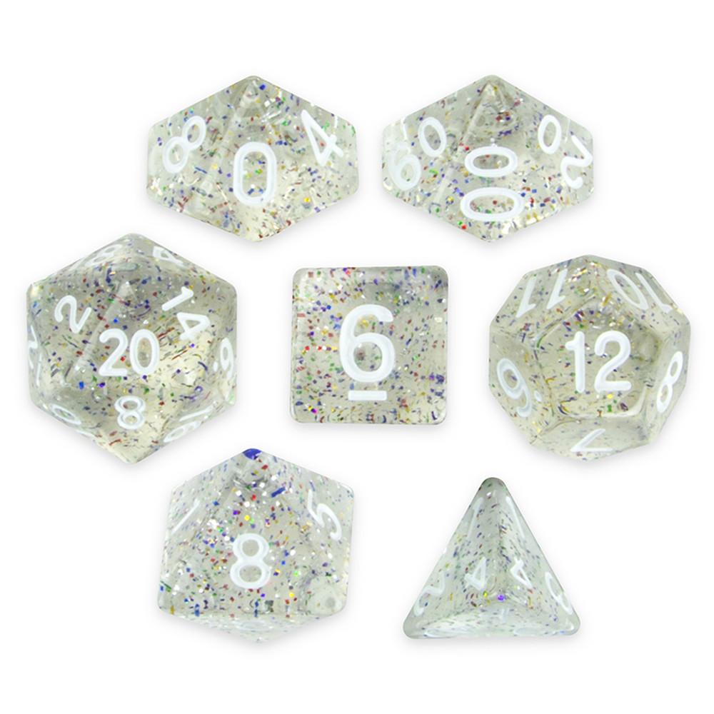 7 Dice Polyhedral Set, Sparkle Vomit