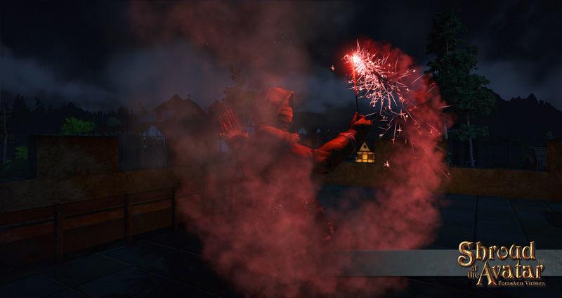 Replenishing Red Sparkler Fireworks Box - Shroud of the Avatar