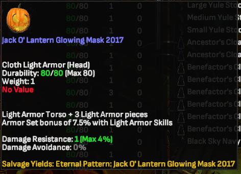 Jack O' Lantern Glowing Mask 2017 - Shroud of the Avatar
