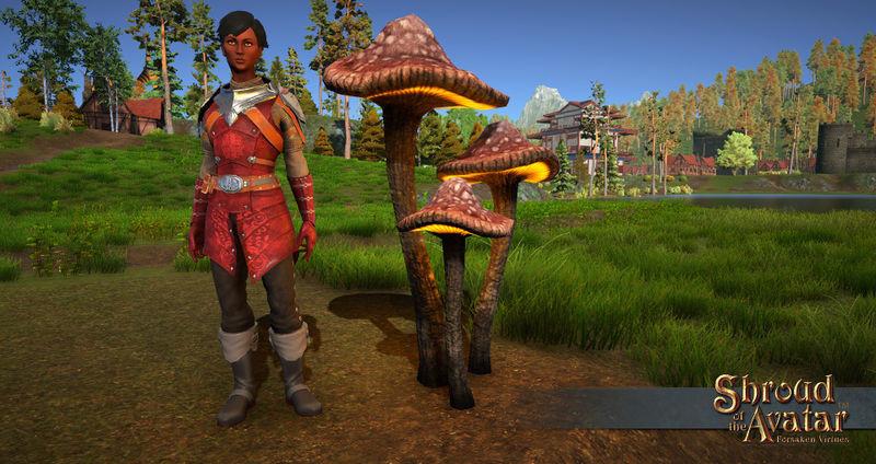 Orange Glowing Mushroom - Shroud of the Avatar