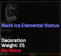 Black Ice Elemental Statue  - Shroud of the Avatar
