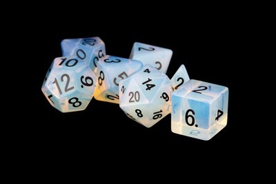 Opalite: Full-Sized 16mm Polyhedral Dice Set