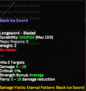Black Ice Sword - Shroud of the Avatar