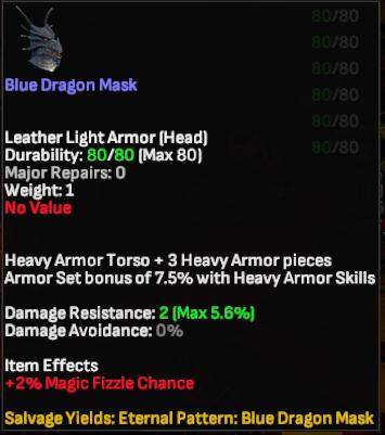 Blue Dragon Mask - Shroud of the Avatar