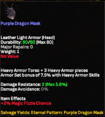 Purple Dragon Mask - Shroud of the Avatar