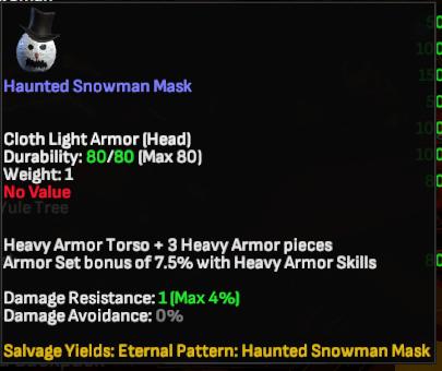 Haunted Snowman Mask - Shroud of the Avatar
