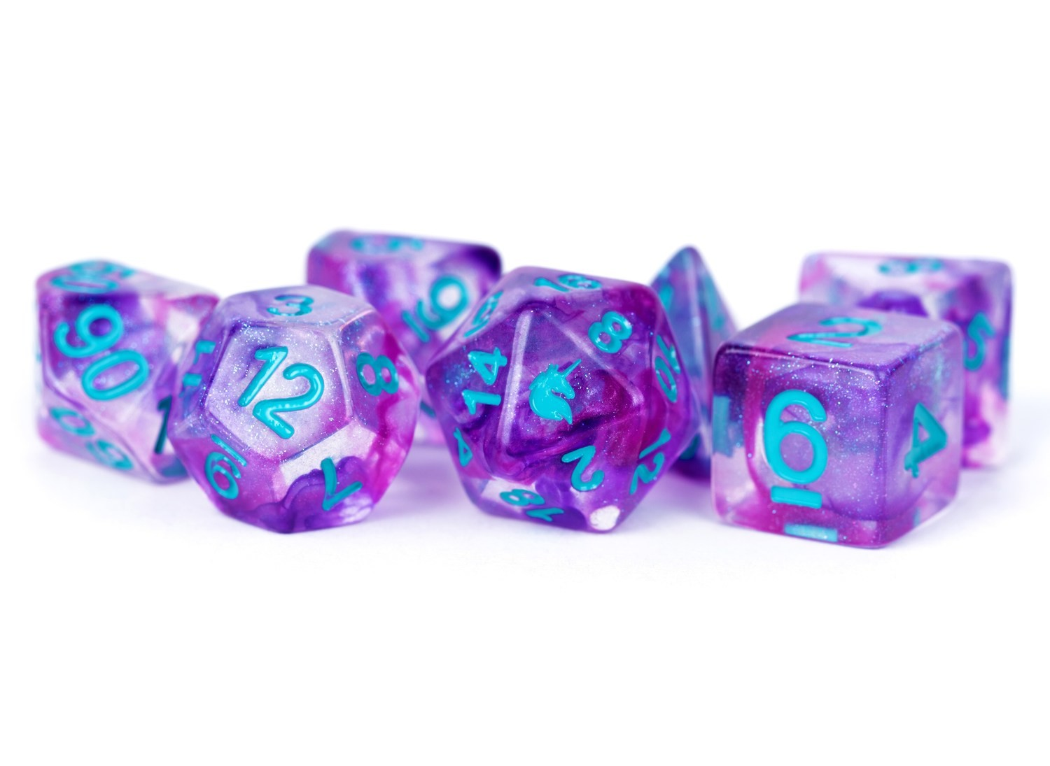 Violet Infusion 16mm Poly Dice Set