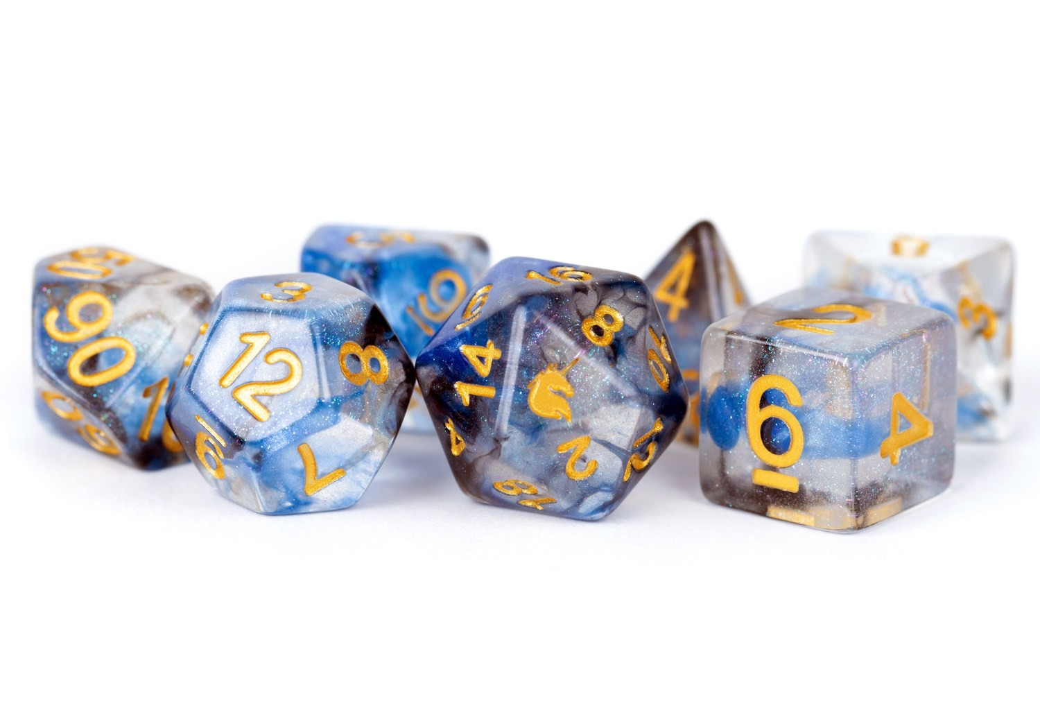 Unicorn Arctic Storm 16mm Poly Dice Set