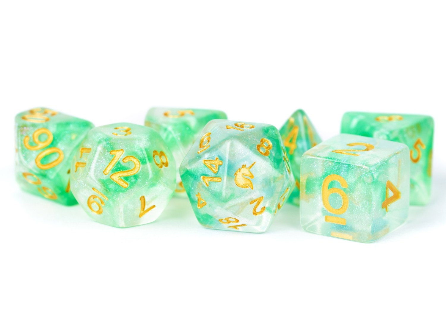 Unicorn Icy Everglades 16mm Poly Dice Set