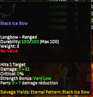 Black Ice Bow - Shroud of the Avatar