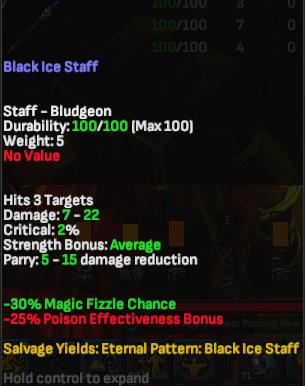 Black Ice Staff - Shroud of the Avatar