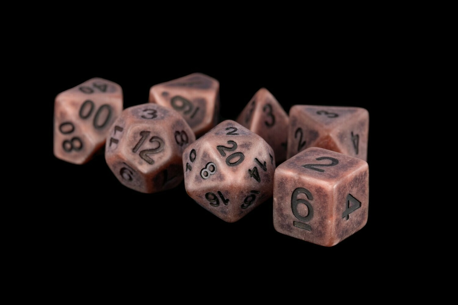Ancient Copper 16mm Resin Poly Dice Set