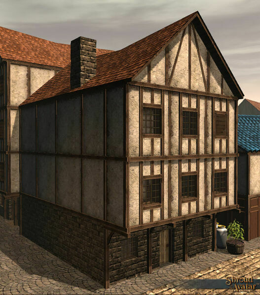 Wood & Plaster Three-Story (Row Home) - Shroud of the Avatar