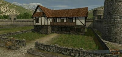 Wood & Plaster 2-Story with Balcony Town Home - Shroud of the Avatar