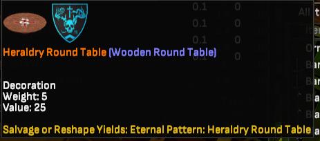 Shooter Jennings Heraldry Round Table - Shroud of the Avatar