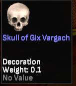 Skull of Gix Vargach (Shroud of Avatar Developer) - Shroud of the Avatar