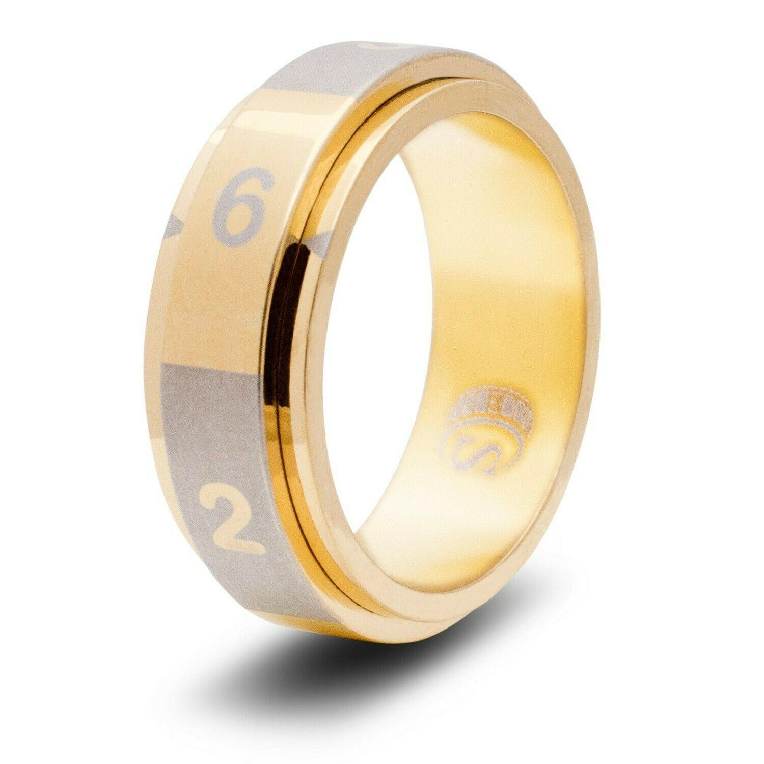 6-sided (d6) Dice Random Number Spinner Ring