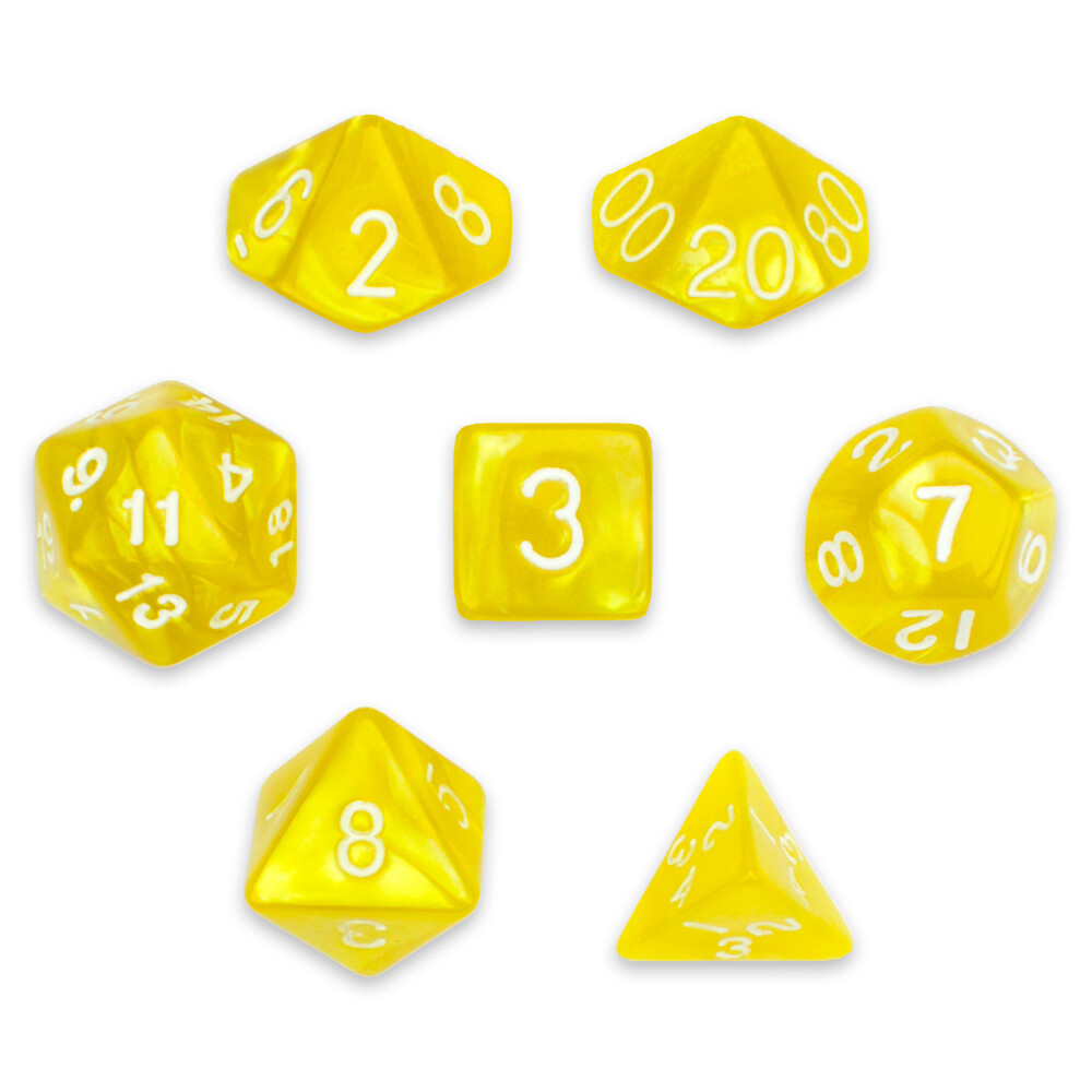 16mm 7 Dice Polyhedral Set, Kings Ransom