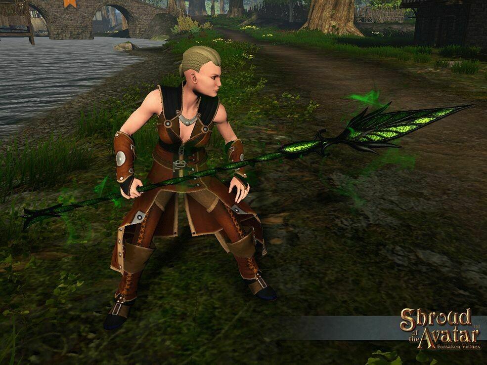 Dark Leaf Spear - Shroud of the Avatar