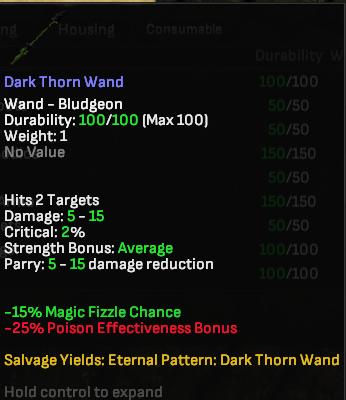 Dark Thorn Wand - Shroud of the Avatar