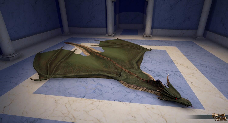 Green Dragon Skin Rug - Shroud of the Avatar