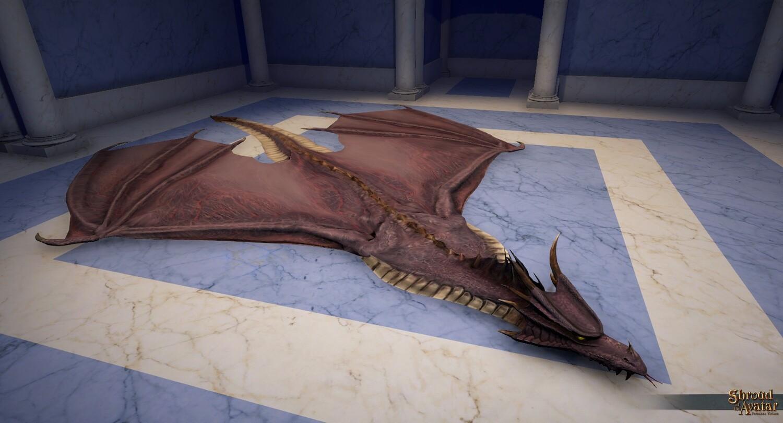 Purple Dragon Skin Rug - Shroud of the Avatar