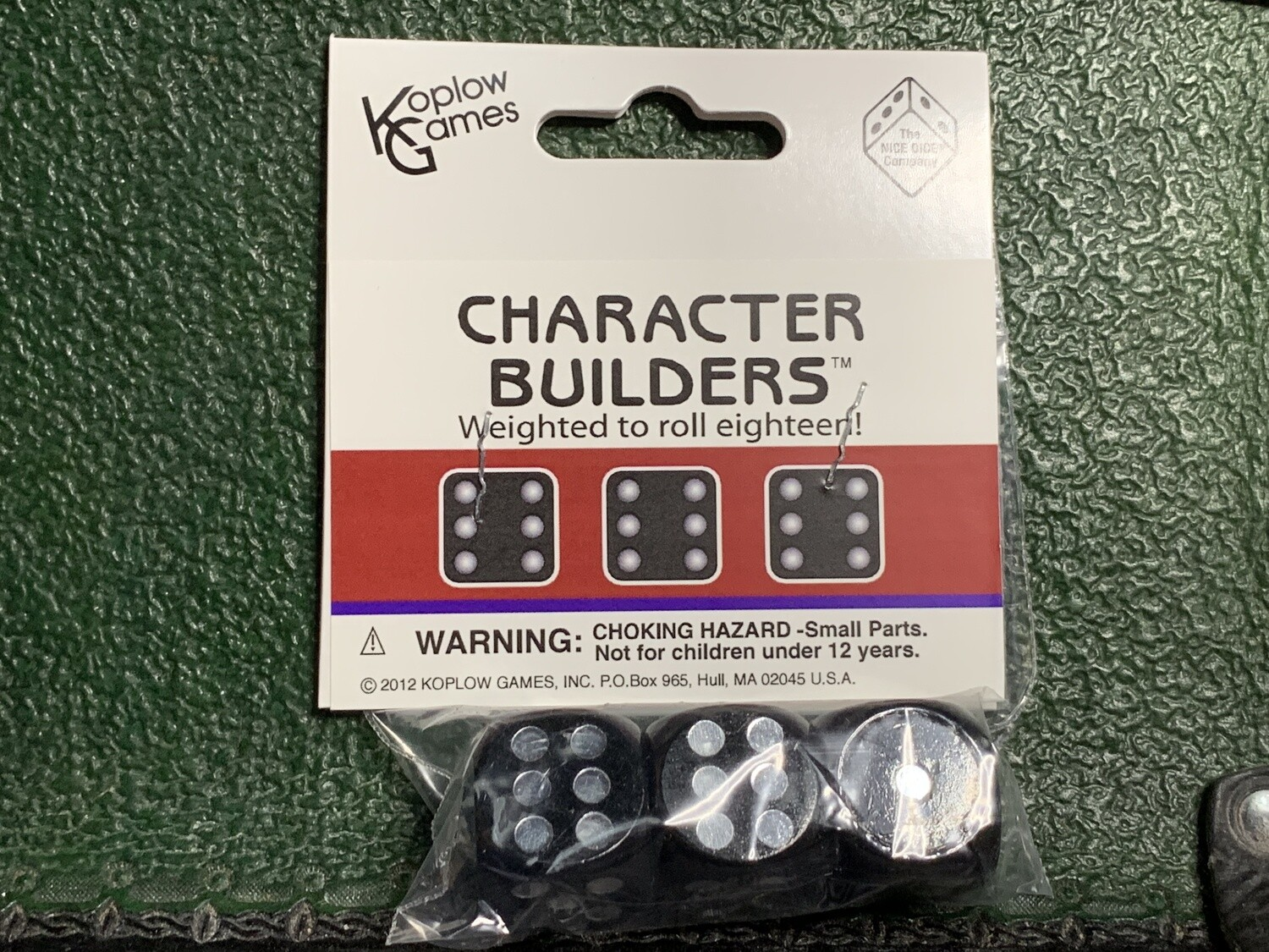 3D6 Dice Character Builder Weighted Cheat Dice