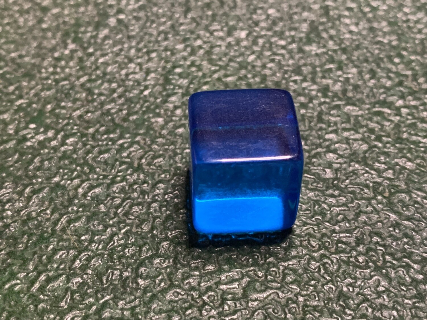 Blank Dice - D6 16mm - Transparent - Blue Six Sided Counting Cube
