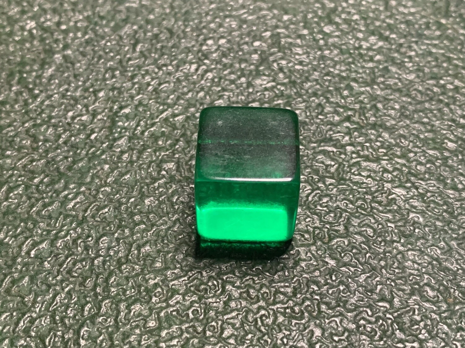 Blank Dice - D6 16mm - Transparent - Green Six Sided Counting Cube